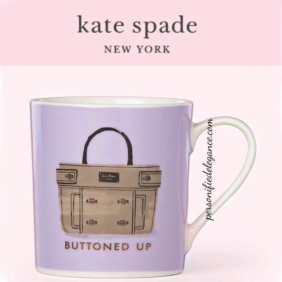 Kate Spade Pink Buttoned Up 12oz Mug